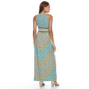 Petite Suite 7 Geometric Halter Maxi Dress