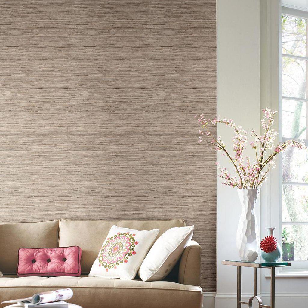 Roommates Grasscloth Peel & Stick Wallpaper Wall Decal