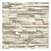 Roommates Faux Stacked Stone Peel & Stick Wallpaper Wall Decal
