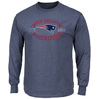 Big & Tall Majestic New England Patriots Football Tee