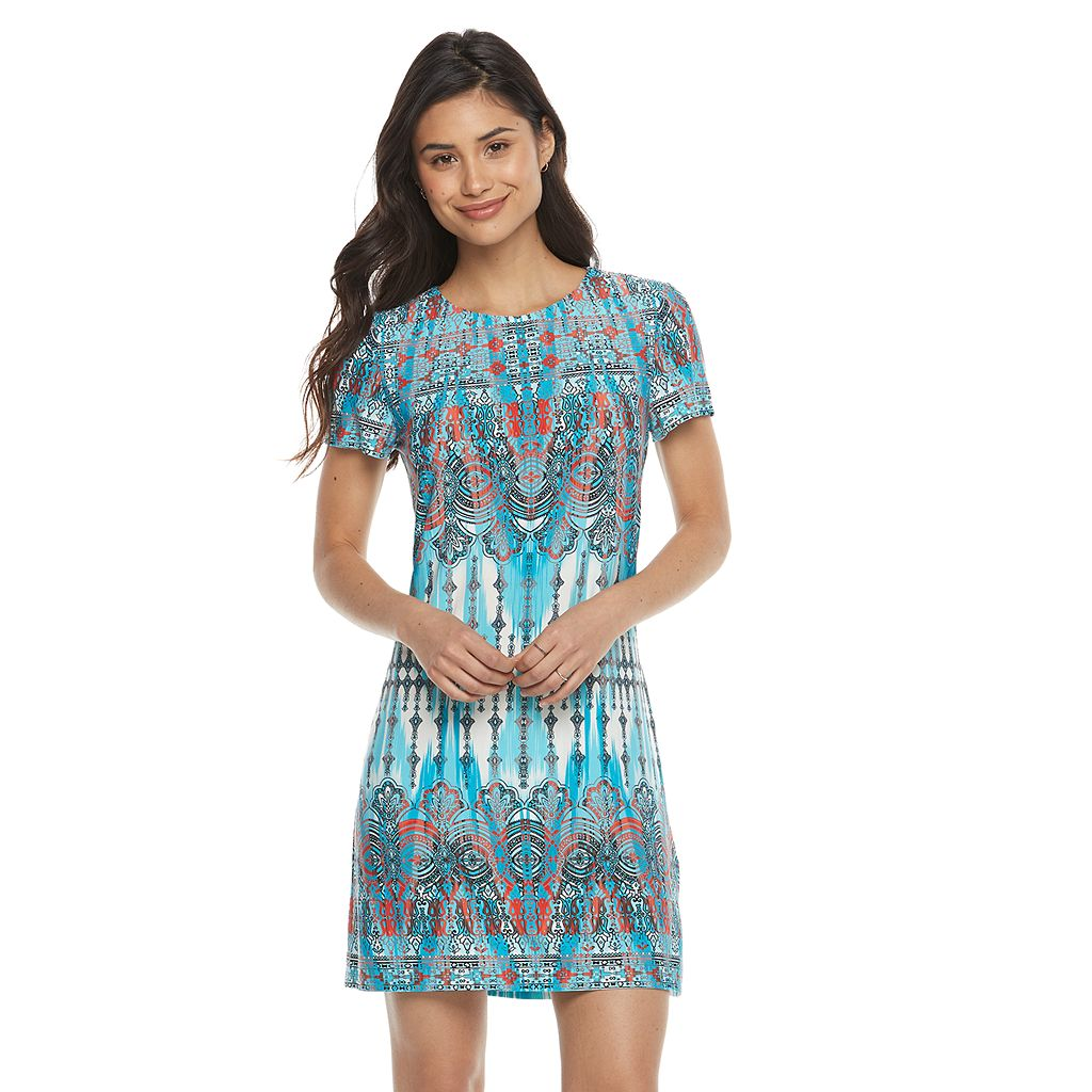 Petite Suite 7 Ikat Shift Dress