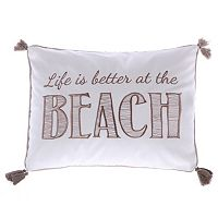 Levtex ''Life Is Better At The Beach'' Oblong Throw Pillow