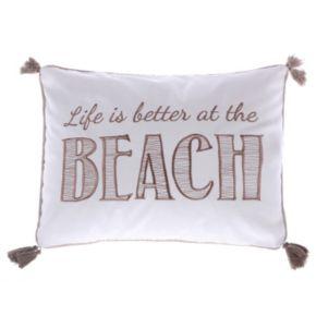 Levtex ''Life Is Better At The Beach'' Oblong Throw Pillow