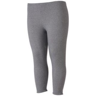 Juniors' Plus Size SO® Lattice-Trim Capri Leggings