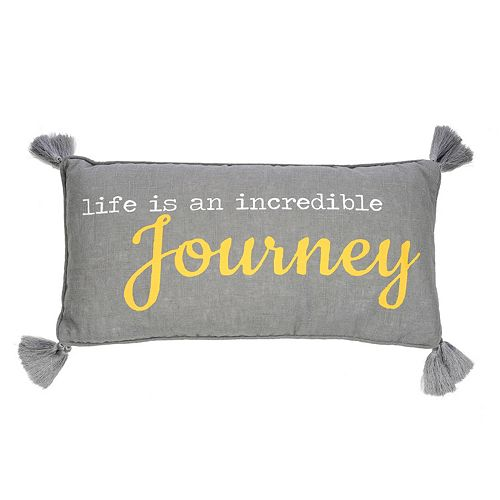 Levtex Taryn ''Life Is An Incredible Journey'' Oblong Throw Pillow