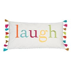 Levtex ''Laugh'' Oblong Throw Pillow