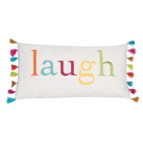 Levtex ''Laugh'' Oblong Throw Pillow
