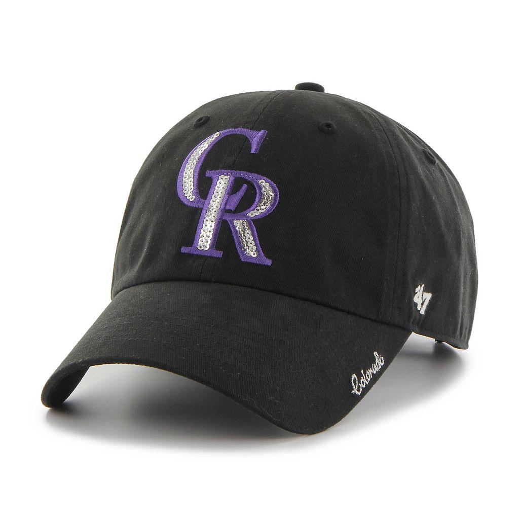Women's '47 Brand Colorado Rockies Sparkle Adjustable Cap