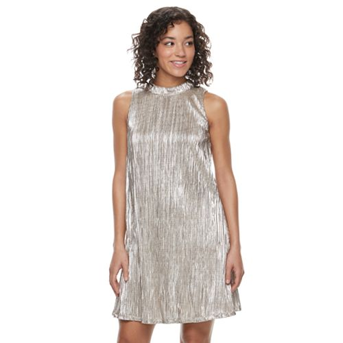 9b2de398367 Juniors  Speechless Sparkly Mockneck Shift Dress