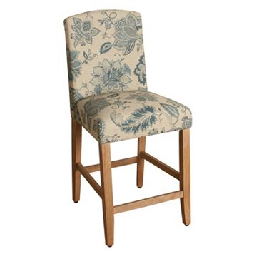HomePop Lexie Floral Counter Stool