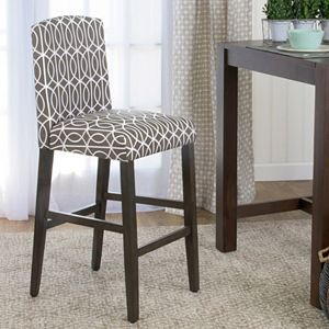 HomePop Finley Curved Back Geometric Bar Stool