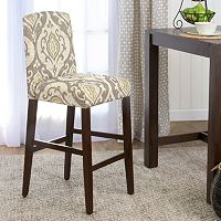 HomePop Suri Curved Back Ikat Medallion Bar Stool