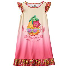 Girls 4-12 Shopkins Pineapple Crush 'Aloha Summer' Ruffle Dorm Nightgown