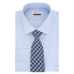 Men's Van Heusen Regular-Fit Flex Collar Dress Shirt & Tie