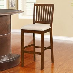 Linon Barrett Slat Back Bar Stool