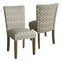 HomePop Finley Parson Dining Chair 2 pc Set
