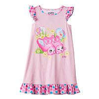 Girls 4-12 Shopkins Bun Bun Slipper Easter Ruffle Dorm Nightgown