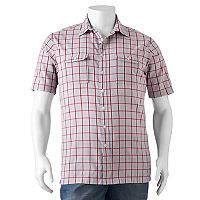 Big & Tall Croft & Barrow® Classic-Fit Plaid Seersucker Button-Down Shirt