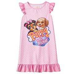 Girls 4-12 Puppy In My Pocket Tessa & Eileen Ruffle Dorm Nightgown