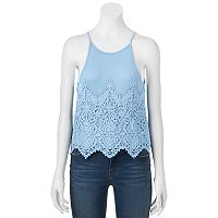 Juniors' About A Girl Crochet Halter Top