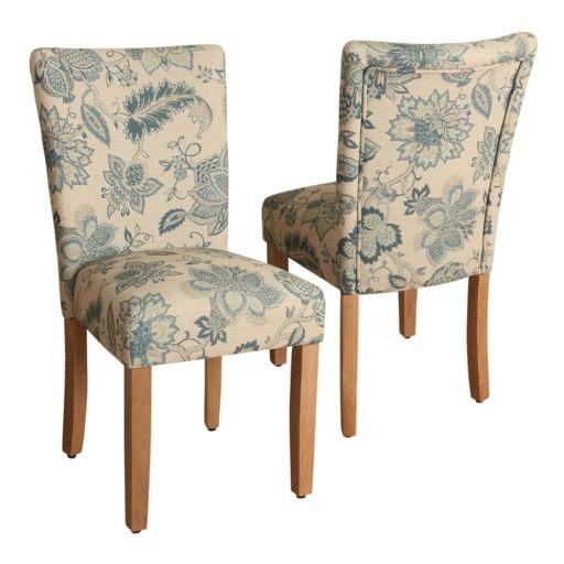 HomePop Lexie Floral Dining Chair 2-piece Set