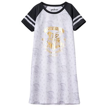 Girls 7-16 Harry Potter Hogwarts Raglan Dorm Nightgown