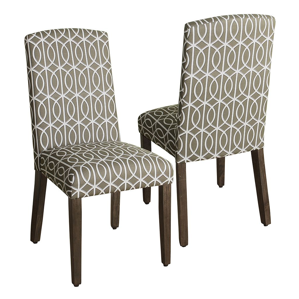 HomePop Finley Geometric Dining Chair 2-piece Set
