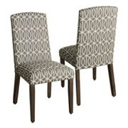 HomePop Finley Geometric Dining Chair 2 pc Set