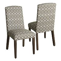 HomePop Finley Geometric Dining Chair 2-piece Set