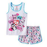Girls 4-12 TY Beanie Boos Pinky, Zoey & Waddles Pajama Set