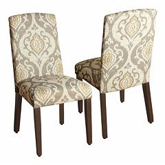 HomePop Suri Curved Back Dining Chair 2 pc Set