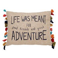 Levtex Karia ''Life Was Meant For Adventure'' Oblong Throw Pillow