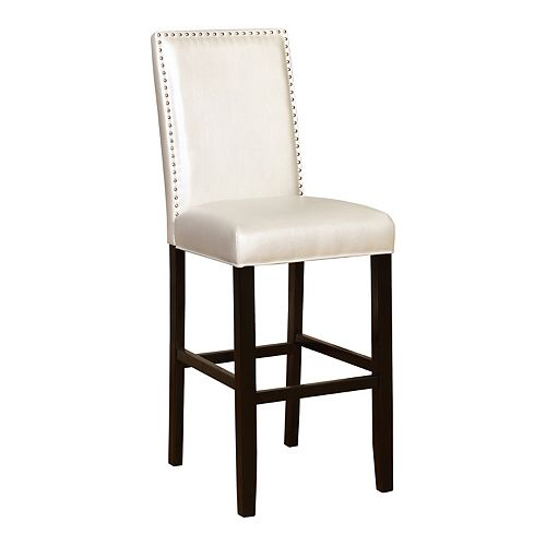 Linon Stewart Nailhead Bar Stool