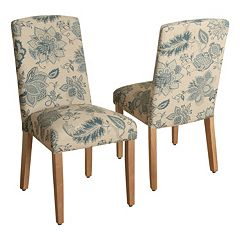 HomePop Lexie Curved Back Dining Chair 2 pc Set