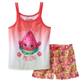 "Girls 4-12 Shopkins Melonie Pips ""One in a Melon"" Pajama Set"