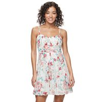 Juniors' Speechless Floral Bubble Hem Skater Dress