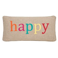 Levtex Ariana ''Happy'' Oblong Throw Pillow