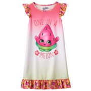 Girls 4-12 Shopkins Melonie Pips 'One in a Melon' Scented Ruffle Dorm Nightgown