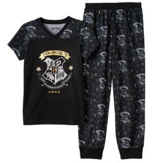 Girls 7-16 Harry Potter Hogwarts Pajama Set