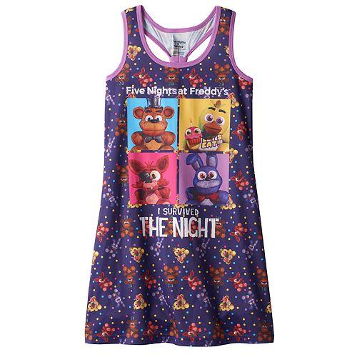 Girls 6-14 Five Nights at Freddy's Dorm Nightgown