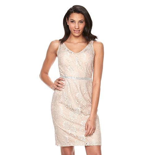 Women's Scarlett Glitter Lace Shift Dress