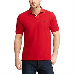 Men's Chaps Stretch Solid Pique Polo