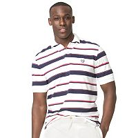 Men's Chaps Classic-Fit Striped Stretch Pique Polo