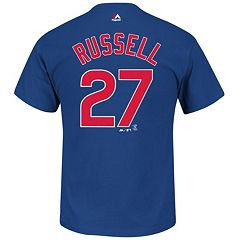 Men's Majestic Chicago Cubs Addison Russell Tee