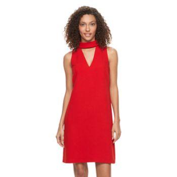 Women's Suite 7 Choker Neck Shift Dress
