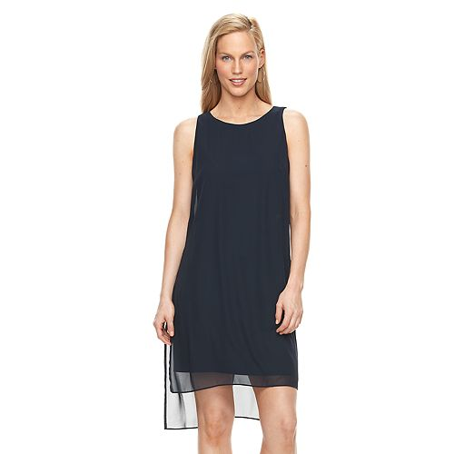 Women's Suite 7 High-Low Chiffon Shift Dress