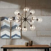 INK+IVY 12-Light Gold Finish Chandelier