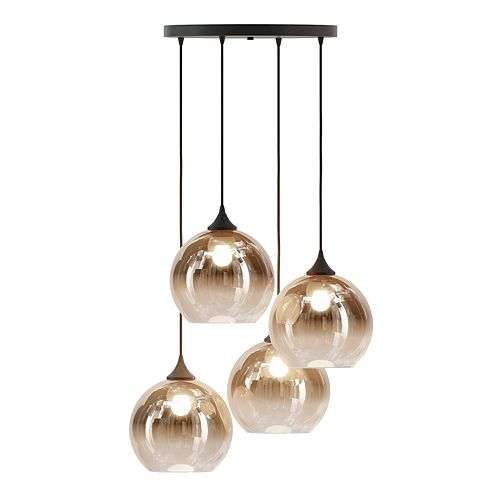 INK+IVY 4-Light Pendant Chandelier