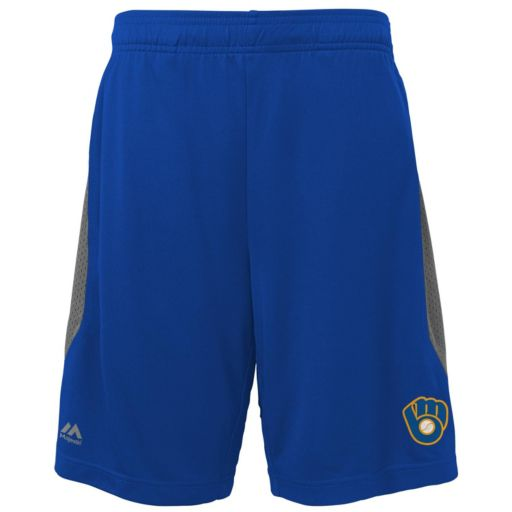Boys 8-20 Majestic Milwaukee Brewers Last Rally Shorts