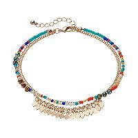 Mudd® Beaded Multi Strand Anklet